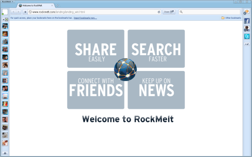 The RockMelt Browser, neat isn't it?